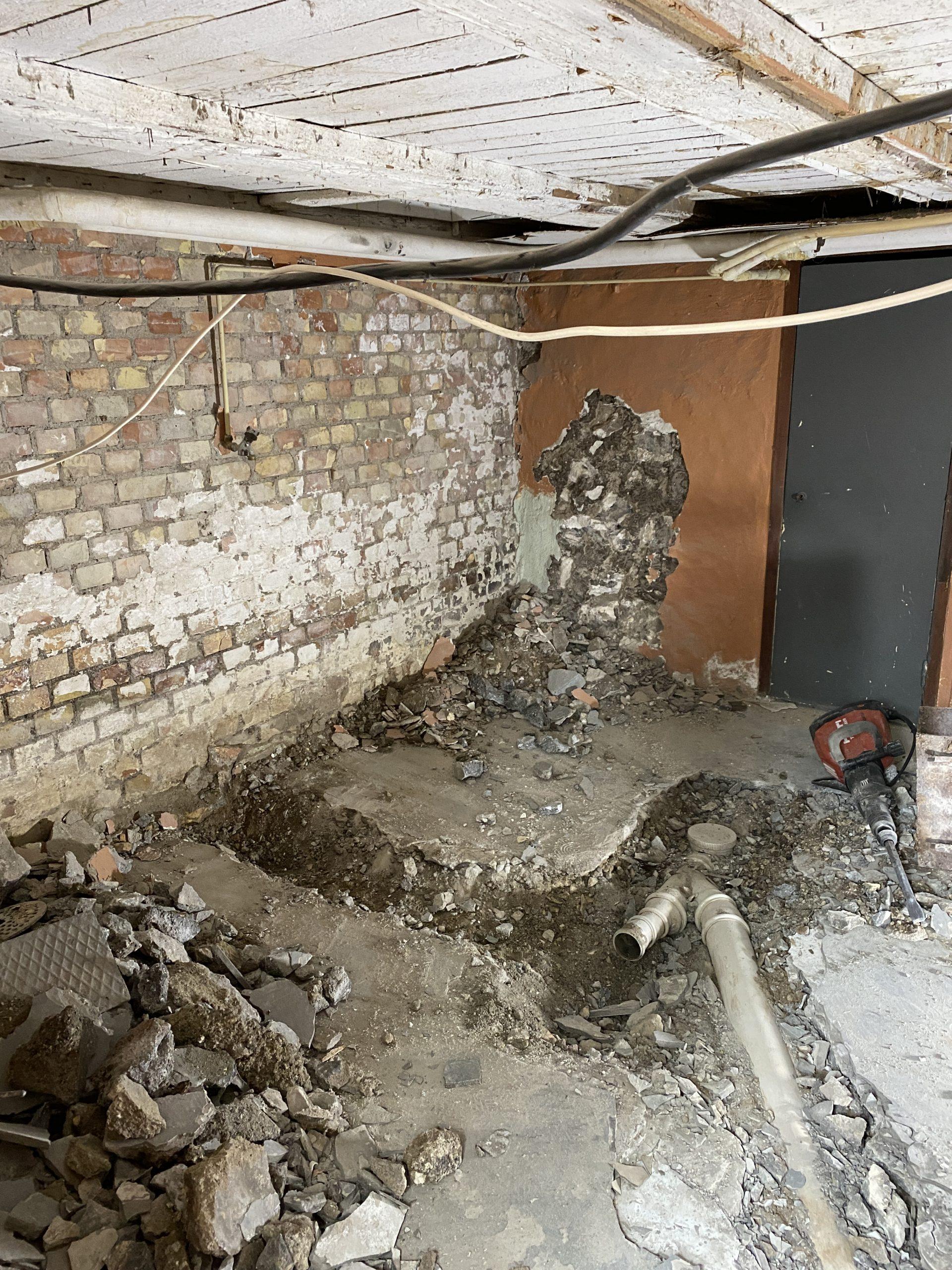 Renovering tvättstuga