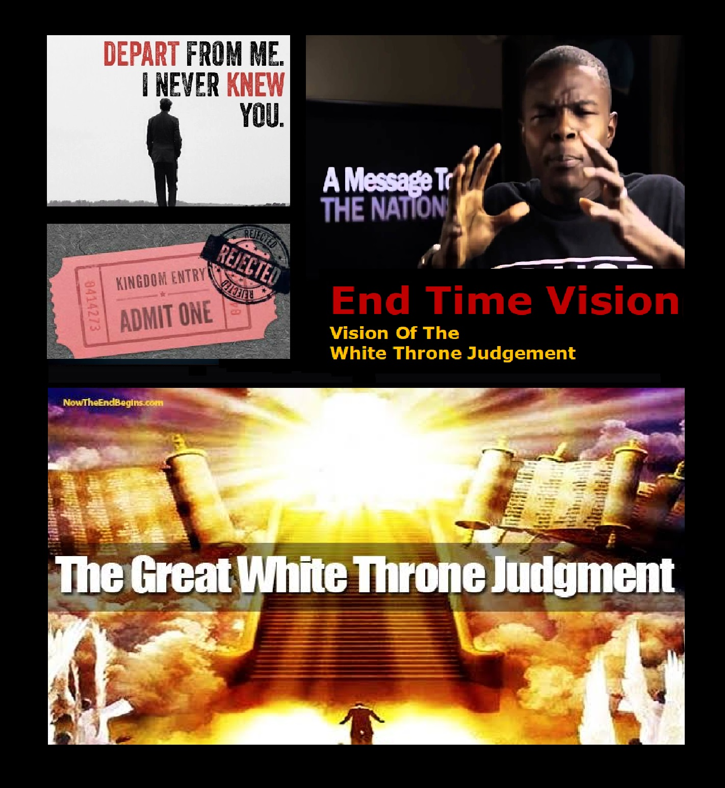 Man Sees TERRIFYING Judgment Day!!! DEPART FROM ME!!! (Rod Pickens Testimony)