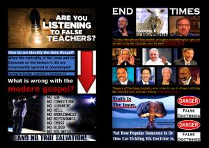False Teachers, & FalseDoctrine Exposed