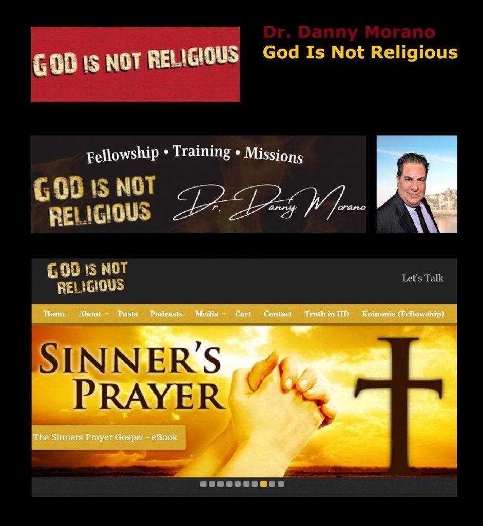 God is not Religious Logo