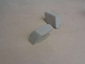 Brick design: step four in clay