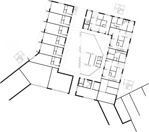 Detail plan of the different rooms 1:200