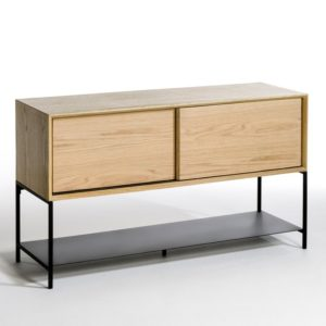 modern wood and metal sideboard