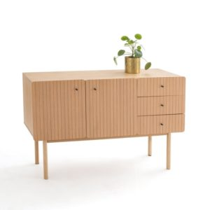 groove wooden alternative sideboard