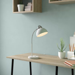 white enamel desk lamp