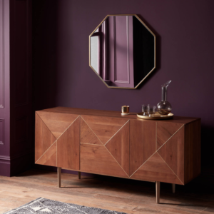 modern sideboard with mirror
