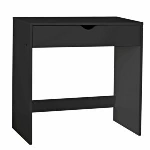 Slimline black plain desk