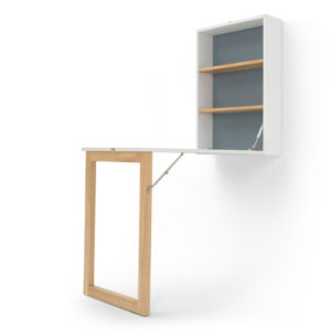 Fold down wall mounted desk