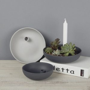 Black matte clay candle stick