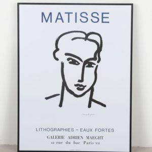 modern matisse print - styling a sideboard with artwork