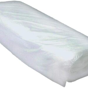 Rolled up dust sheets on a white background