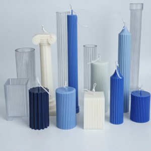 Assorted plain and fluted geometric column moulds