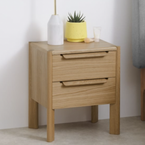 chunky oak bedside table for a bedroom