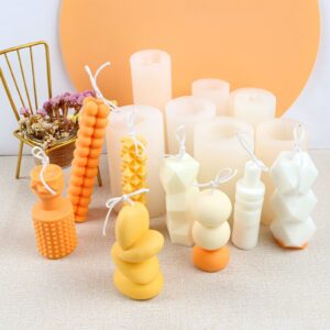 Assorted moulds for modern abstract candle designs