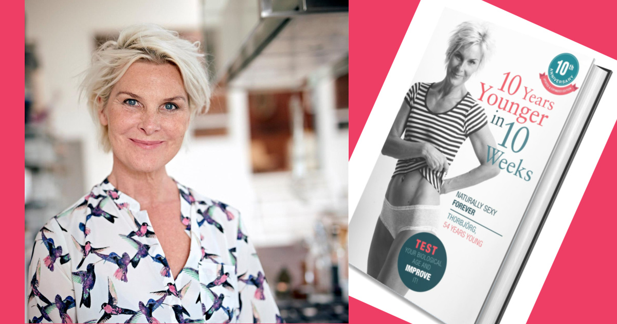 10 years younger in 10 weeks. A book who saves your life. Anti-ageing. thor-bjorg.com