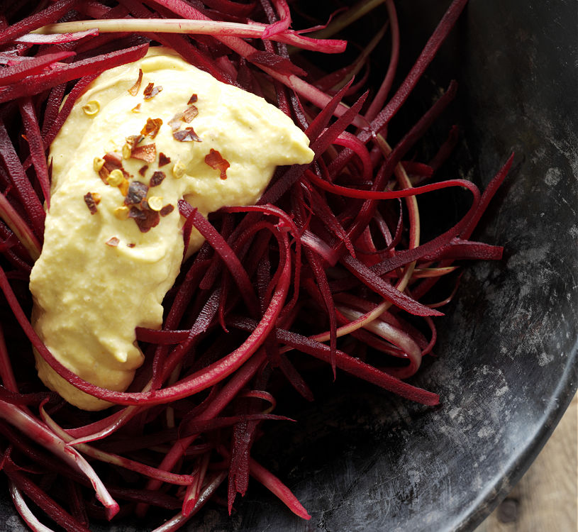 beet noodles are a healthy alternative to other noodles, try it out. thor-bjorg.com