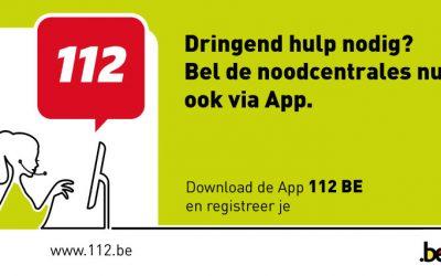 """Applicatie """"112"""" gelanceerd,  noodoproep via app  op smartphone."""