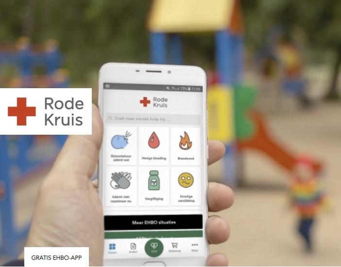 Gratis en eenvoudig EHBO met de Rode-Kruis app