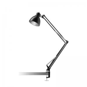 Nordic Living Archi T2 Bordlampe Sort/Sølv