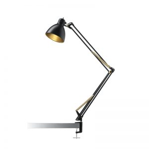 Nordic Living Archi T2 Bordlampe Sort/Guld