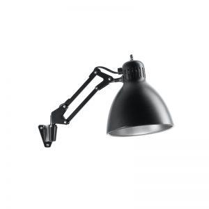 Nordic Living Archi W1 Væglampe Sort/Sølv