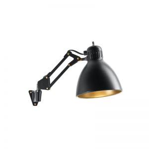 Nordic Living Archi W1 Væglampe Sort/Guld