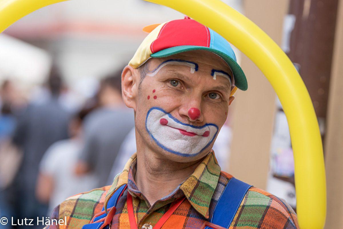 Clown gibt es über all auf der Welt.