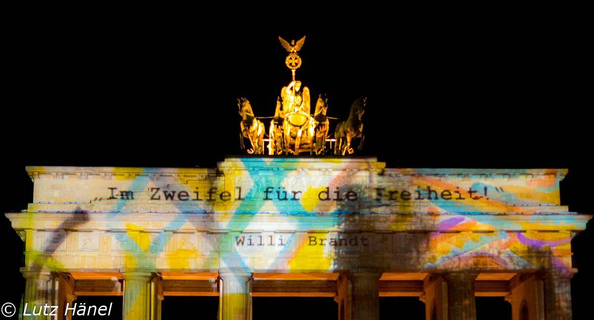 Symbol der Freiheit das Brandenburgertor