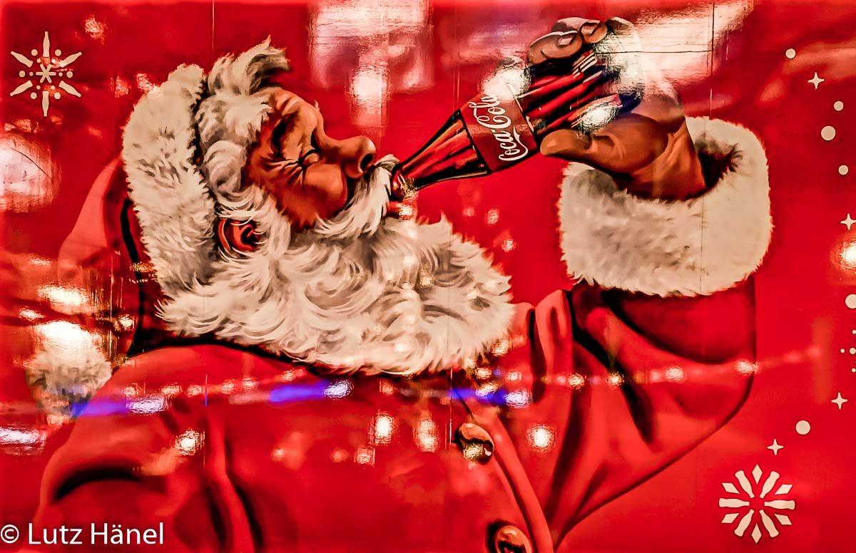 Foto Coca Cola Track Ausschnitt Coca Cola Weihnachtsmann.