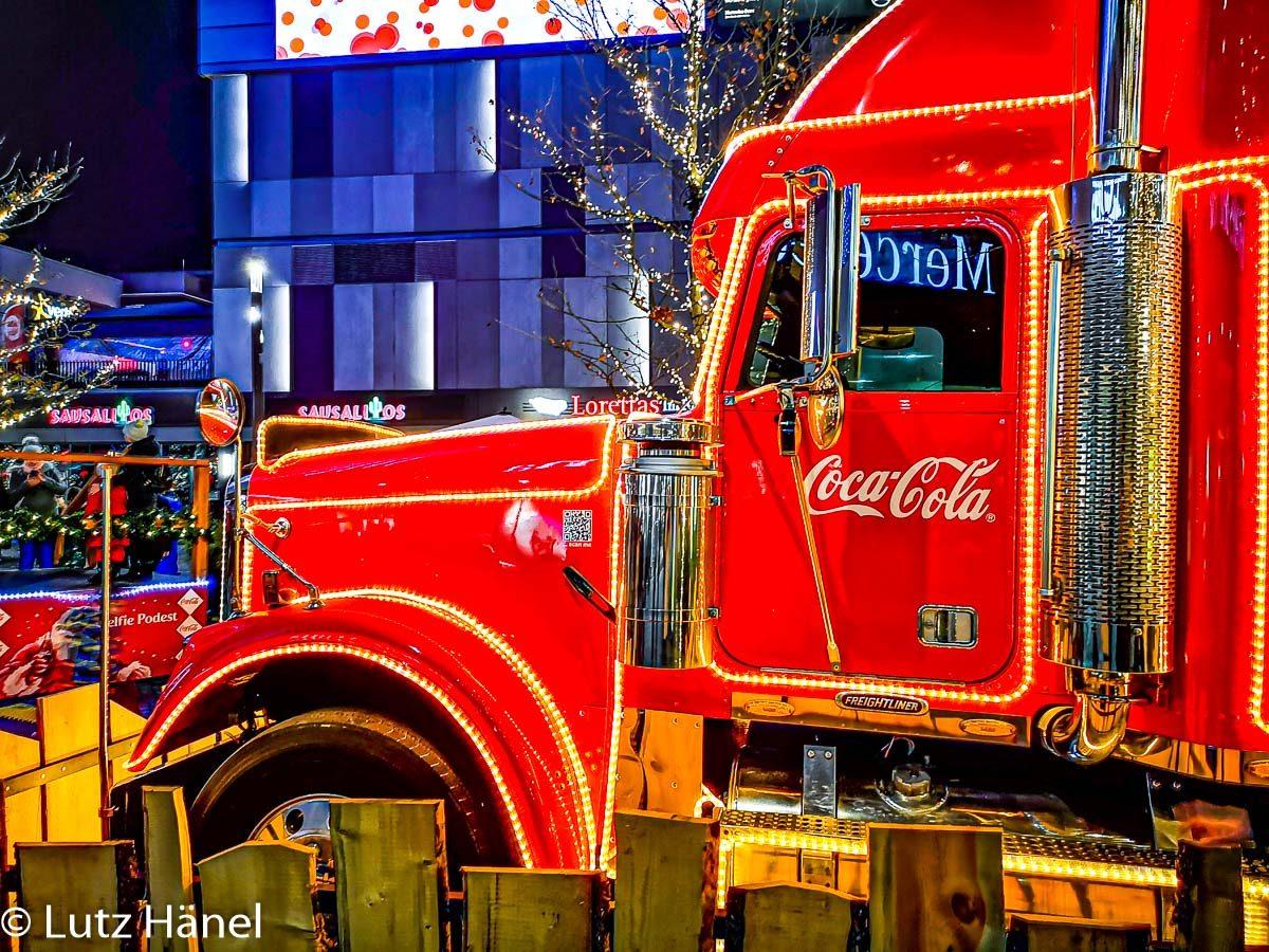 Seitenansicht vom Coca Cola Weihnachts Track