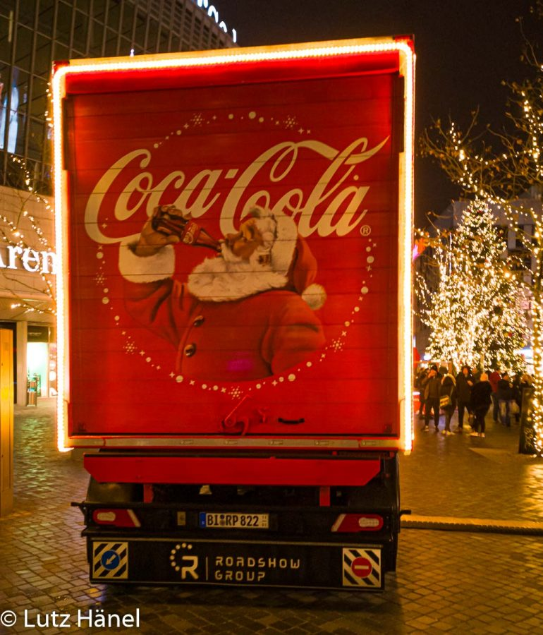 Hintere Ansicht vom Coca Cola Track