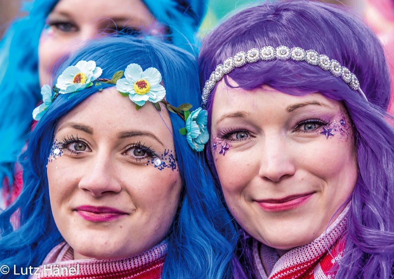 Zug der Fröhlchen Leute Cottbus 2017 Die beiden unzertrennlichen