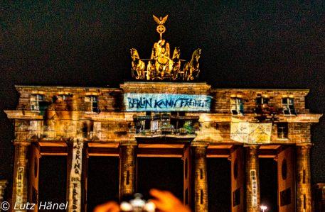 Berlin kann Freiheit Berlin Leuchtet 2017 Foto vom Brandenburger Tor