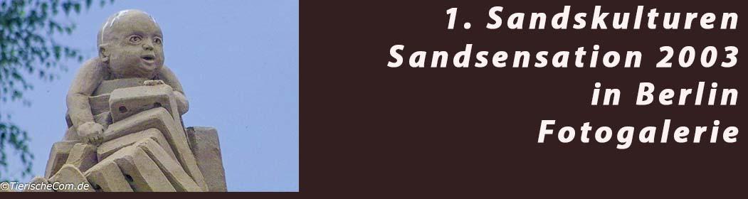 1. Sandskulturen Sandsensation 2003 in Berlin Foto Galerie