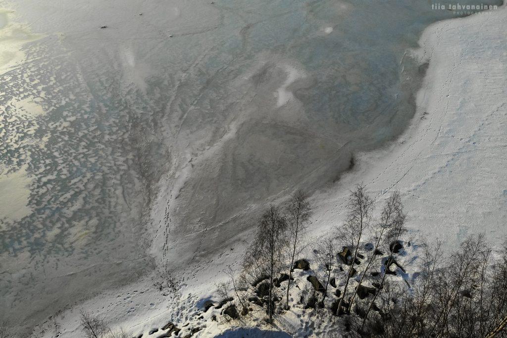 Dronekuva Keski-Suomesta talvelta