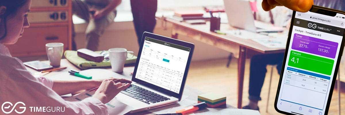 Tidsregistrering med Løntillæg, Overtid og Projekter