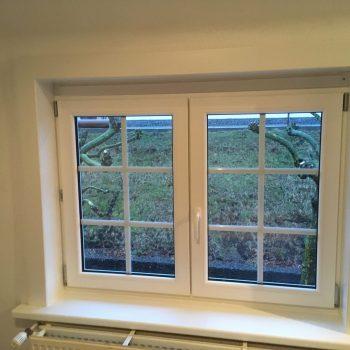 afwerking raam binnenzijde in pvc