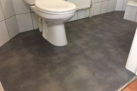 Badkamervloer in linolium te vervangen