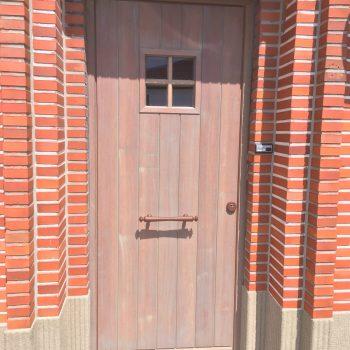 voordeur in afzelia