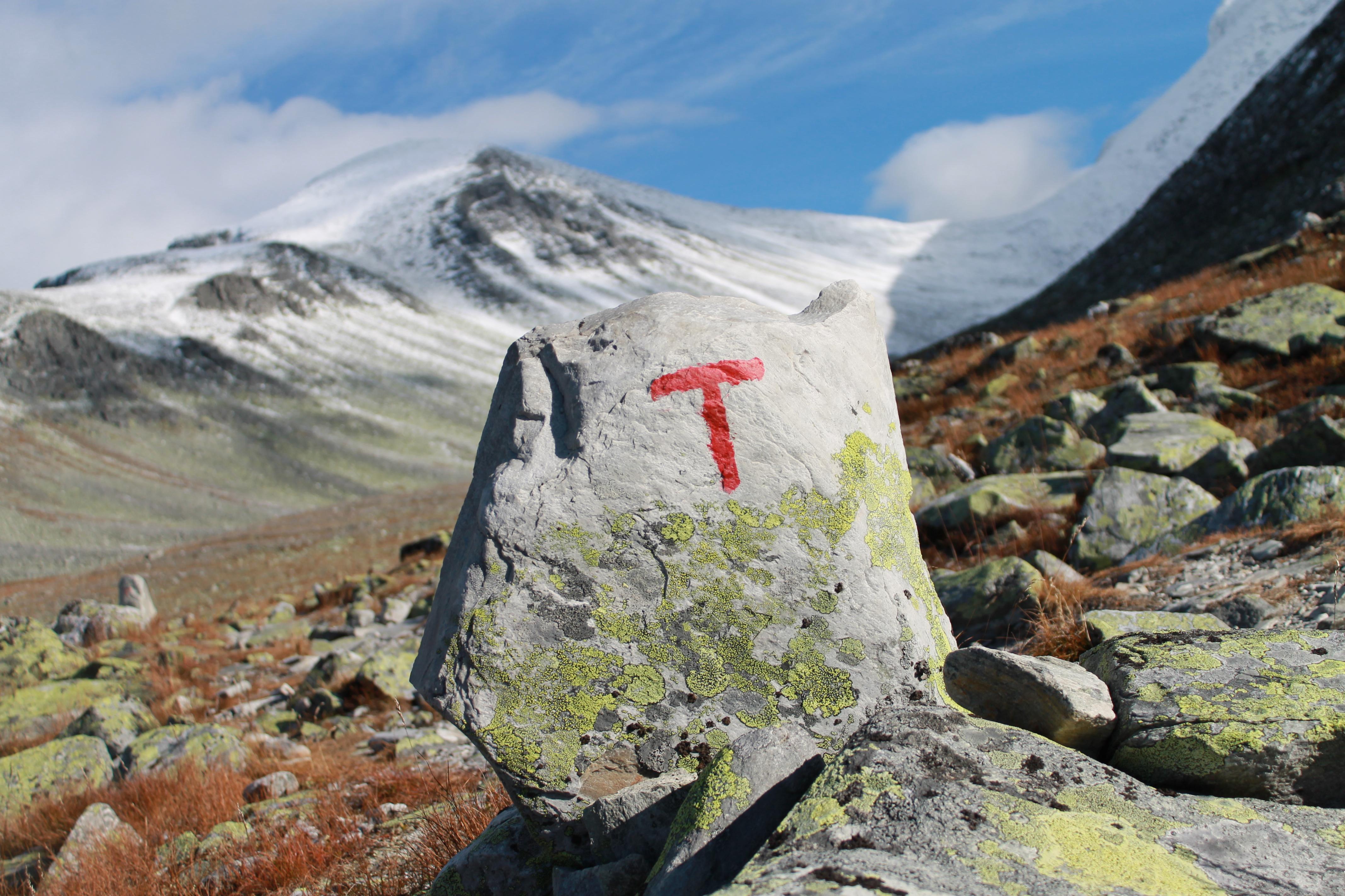T-en viser vei mot Rondslottet og inn i Rondholet.