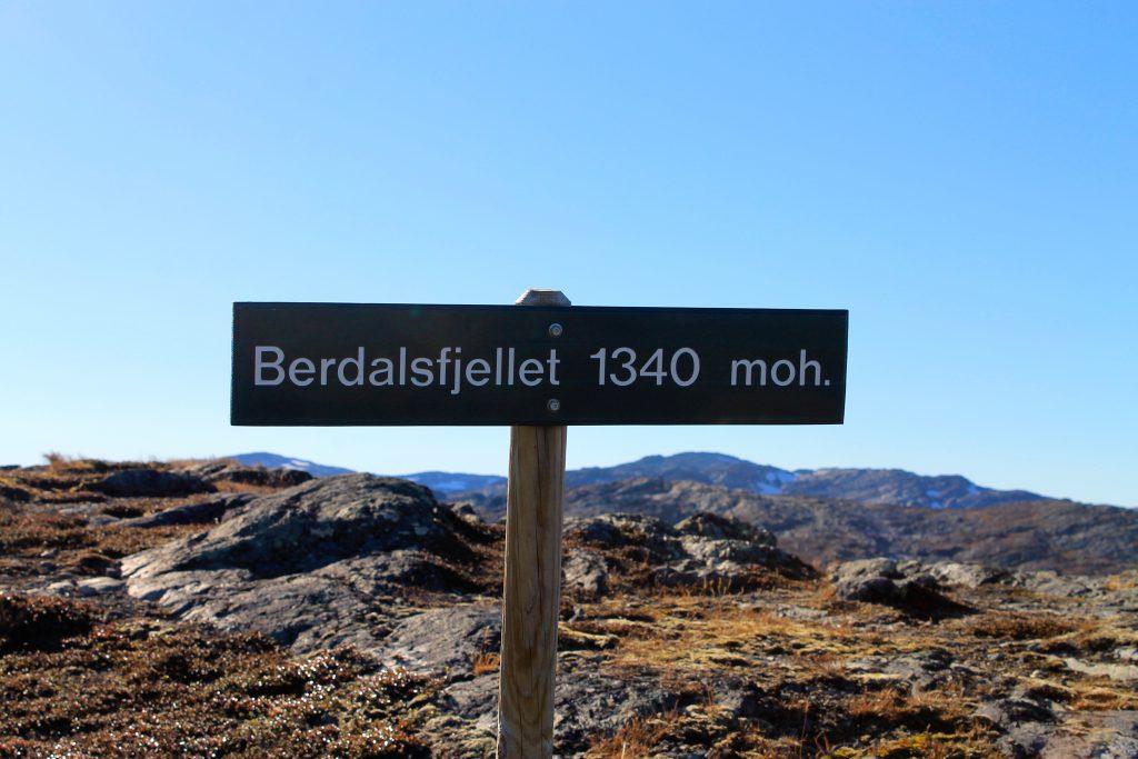 Berdalsfjellet 1.340 moh.