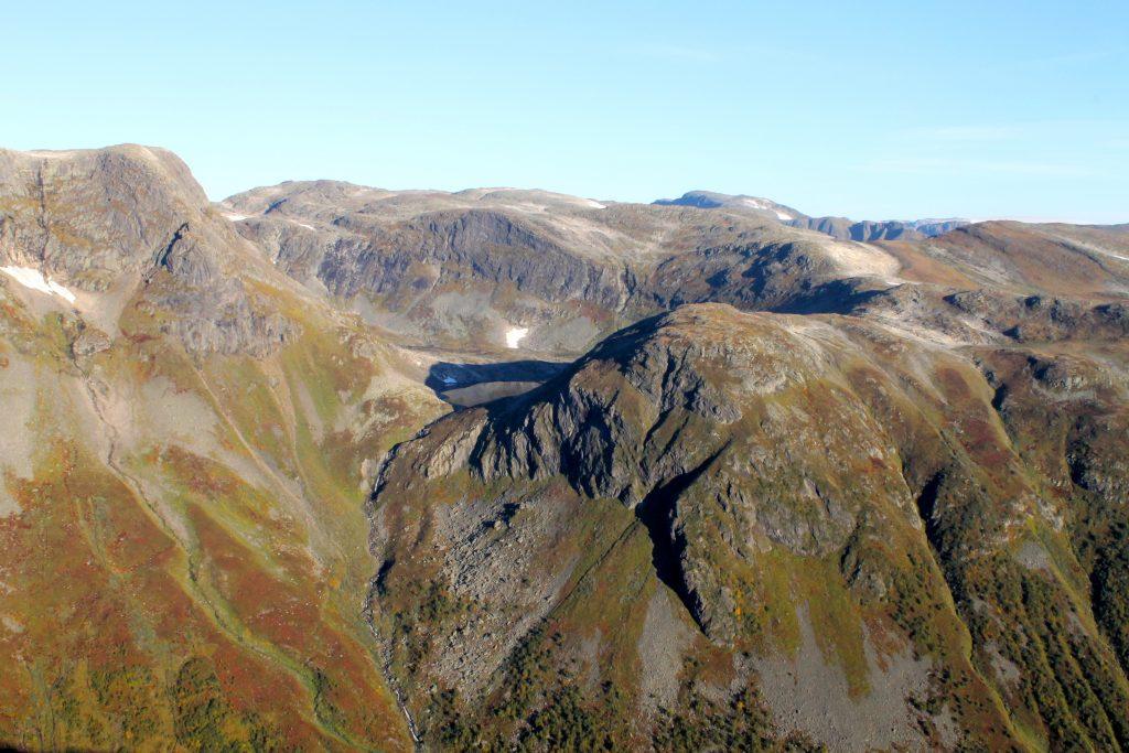 Utsikt mot oppstigningen Rimstigen fra Bakkanosi.