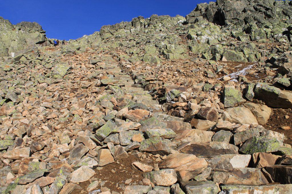 Fra Prestholtseter og opp til Prestholtskardet er det tilrettelagt vei av av Sherpaer.