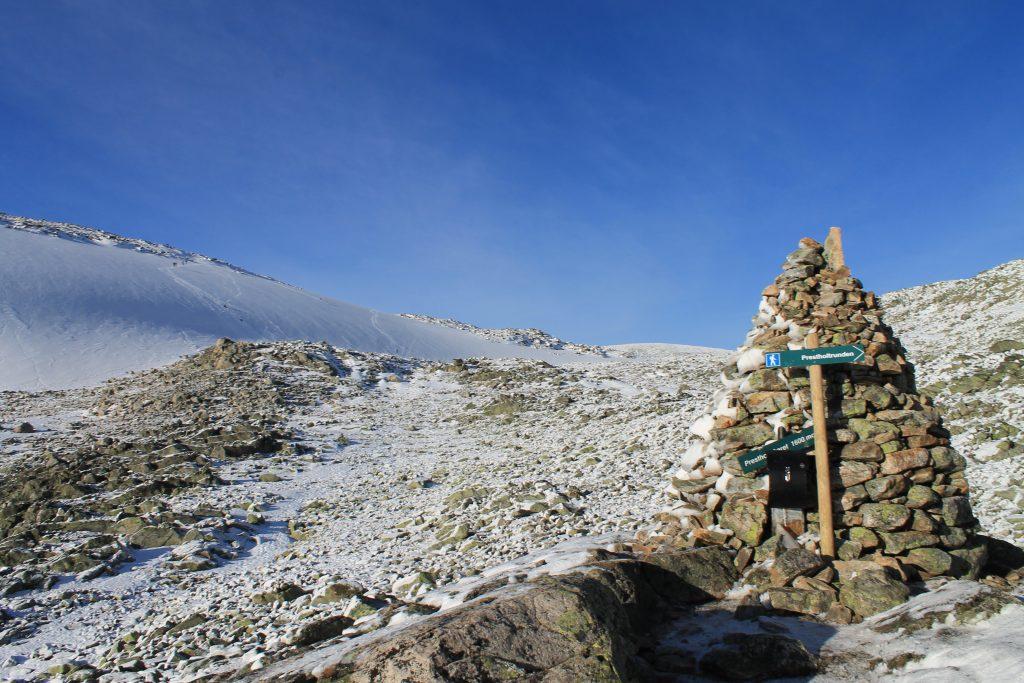 Prestholtskardet (1.600 moh) på Hallingskarvet.