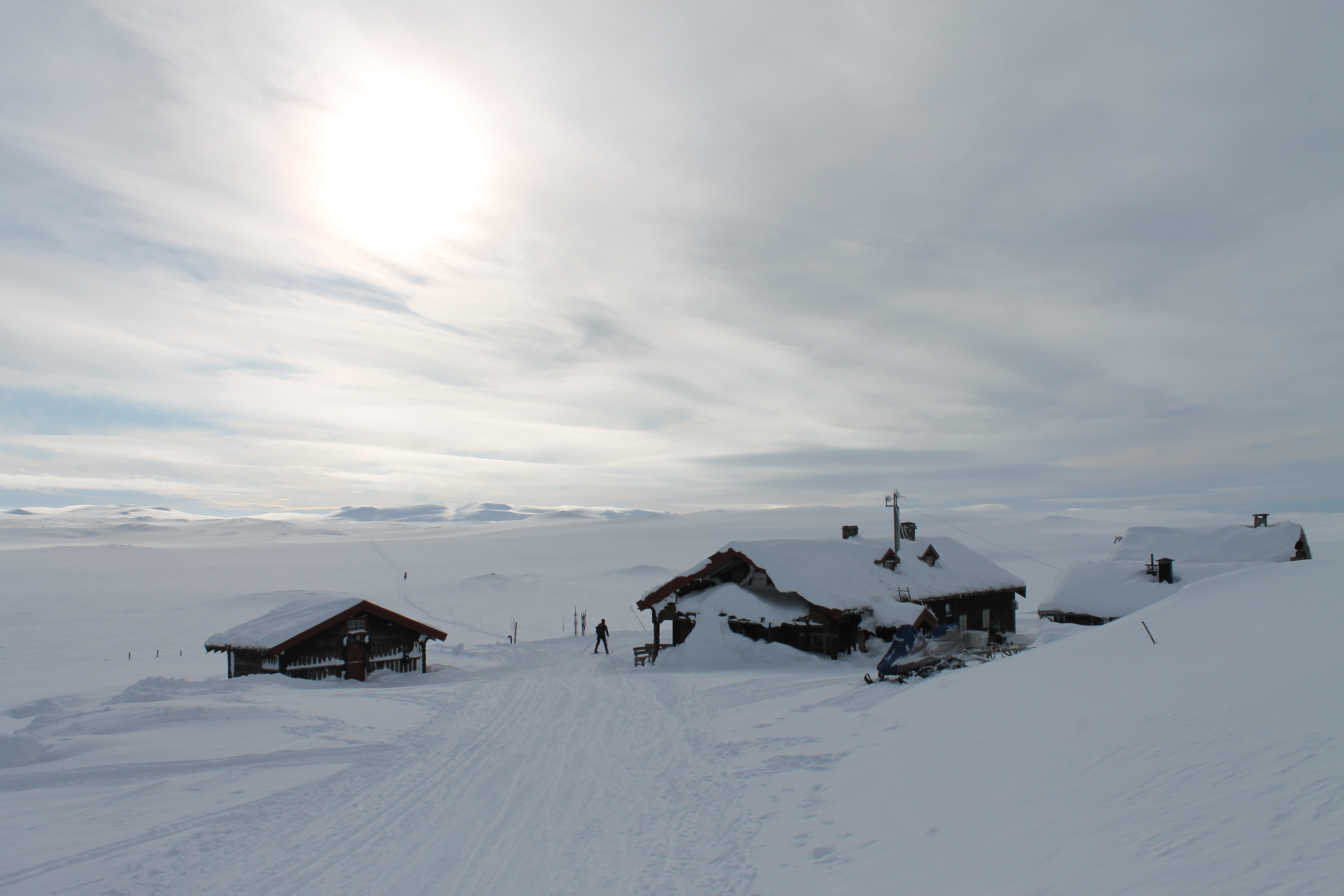 Tuva Turisthytte nord på Hardangervidda.