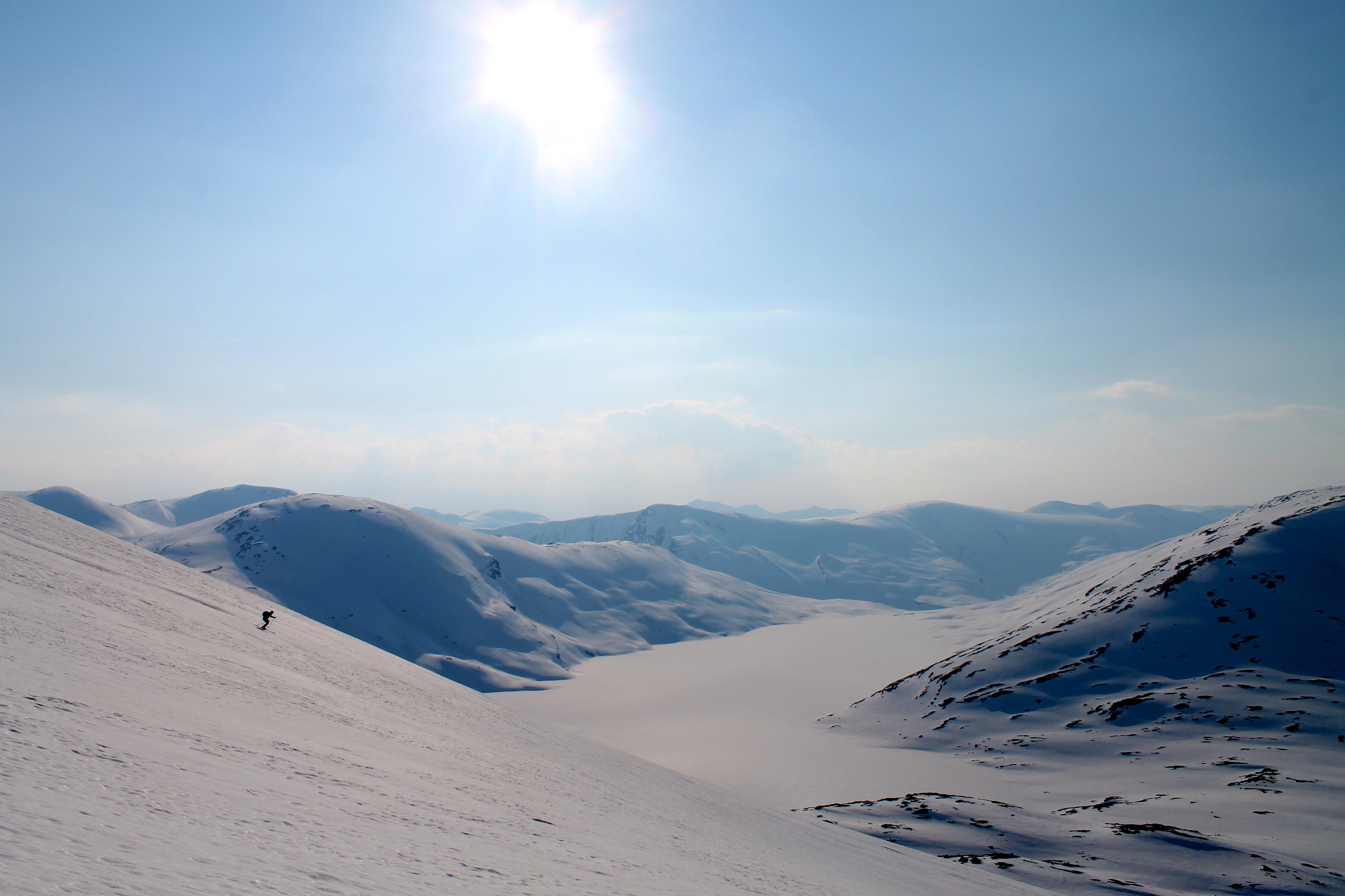 Nedkjøring fra Langvasseggi på Strynefjellet.