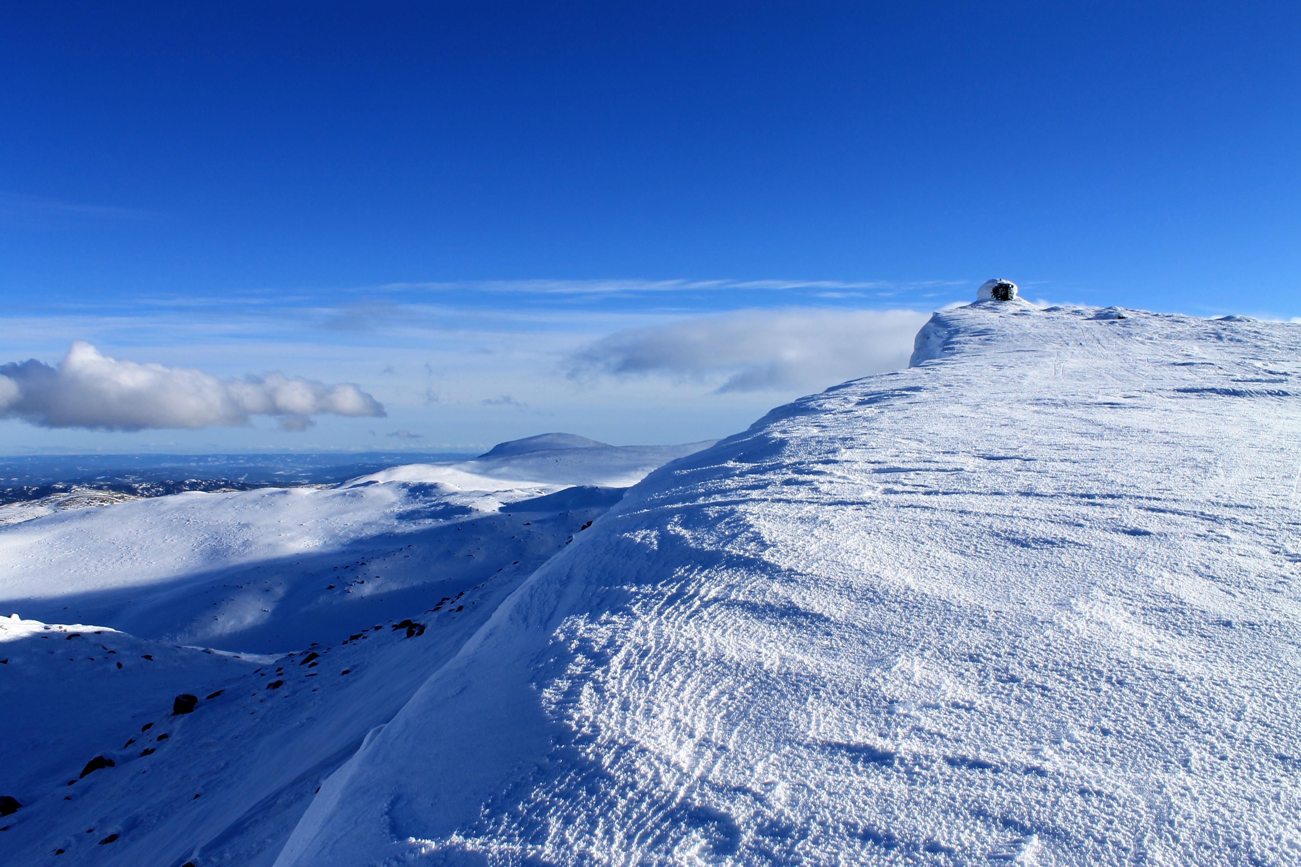 Siste stykket opp mot toppvarden på Gråfjell (1.466 moh).