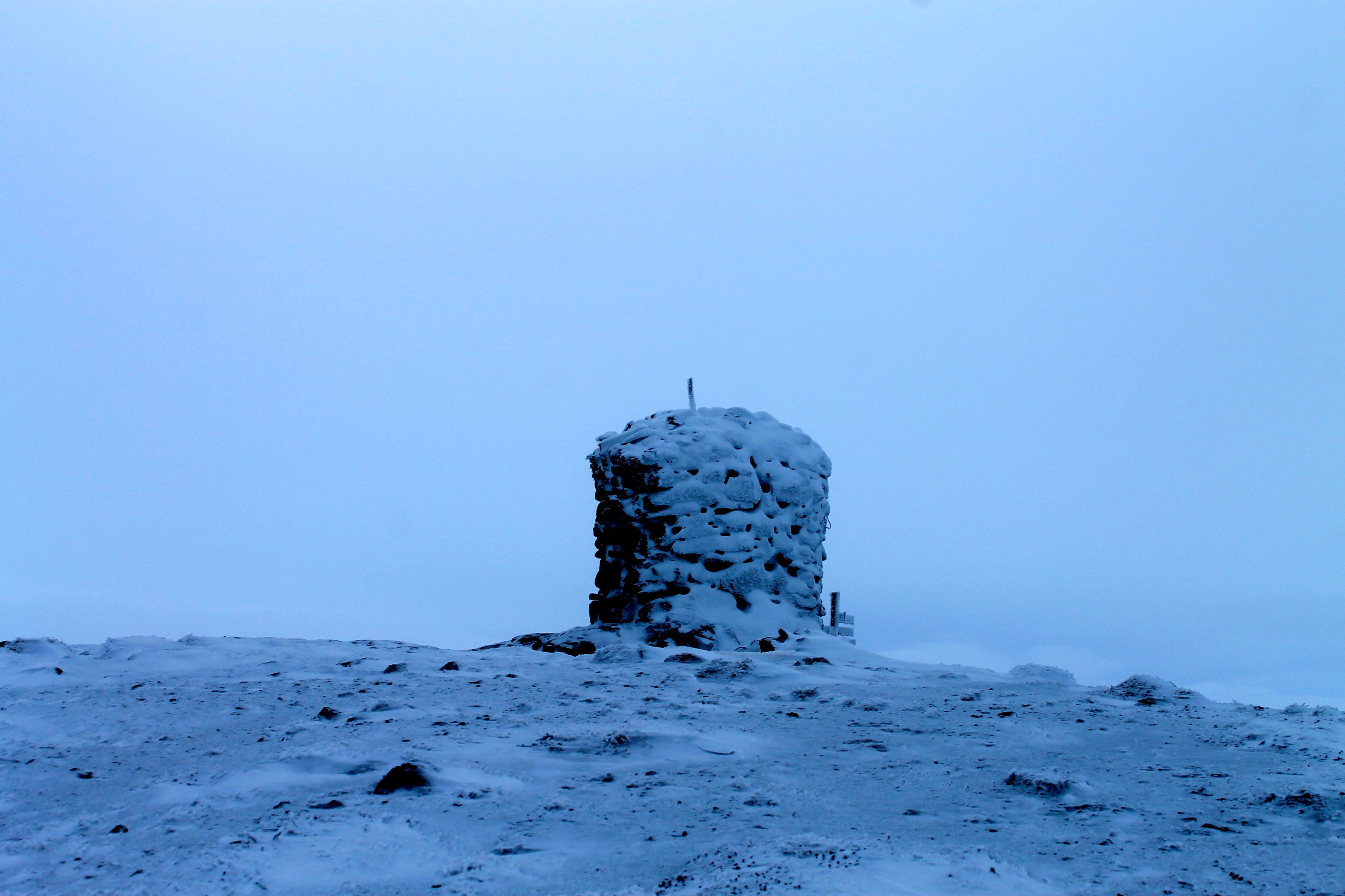 Varden på Ustetind er fredet og godt over 100 år gammel.