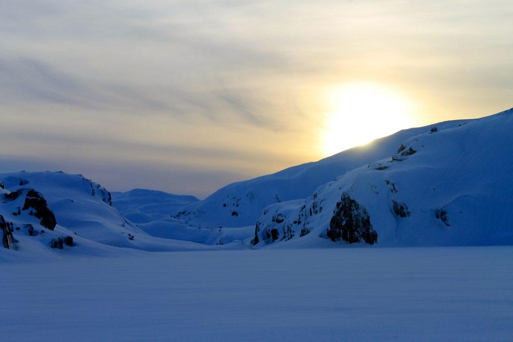 Solnedgang over Kaldavatni.