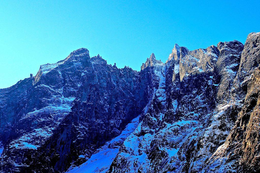 Europas høyeste loddrette fjellvegg, Trollveggen.